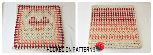 Free Crochet Cushion Cover Design