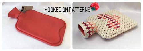 Free Hot Water Bottle Cover Granny Heart Crochet Pattern HWB