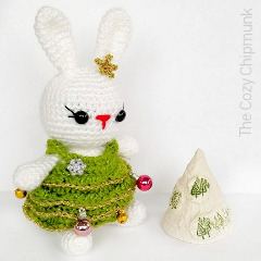 Christmas Tree Bunny Crochet Pattern