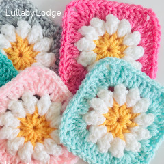 Daisy Granny Squares Free Crochet Pattern