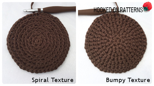 Free Sunflower Basket Crochet Pattern image showing the texture options