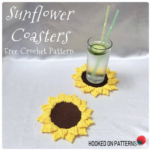 Free Sunflower Coasters Crochet Pattern Image