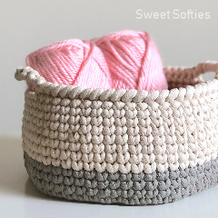 Knit Stitch Basket Crochet Pattern