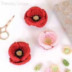 Poppy Flower Crochet Pattern