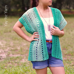 Women's Crochet Vest Patterns: Seafoam Cardigan Crochet Pattern