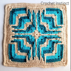Free Star Portal Square Crochet Pattern
