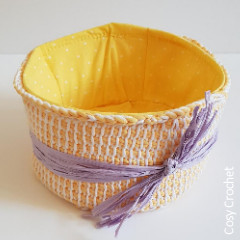 Tunisian Spring Basket Crochet Pattern