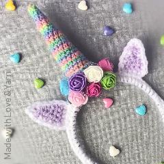 Free Unicorn Headband Crochet Pattern