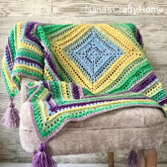 Wrap Me In Sunshine Free Blanket Crochet Pattern