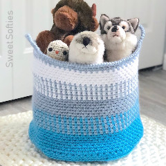 Blue Coast Basket Crochet Pattern