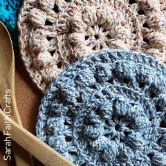 Bobble Stitch Hot Pads Free Crochet Pattern