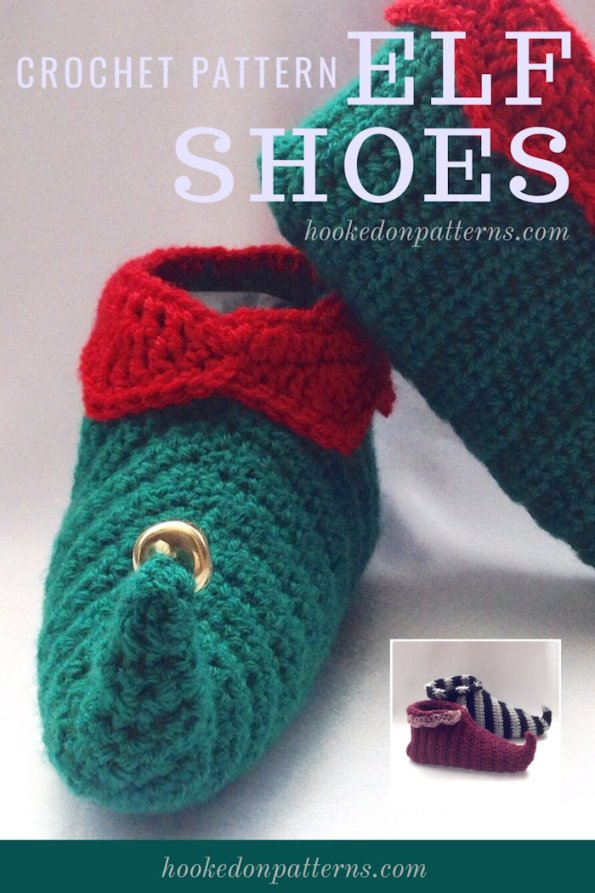 Elf Shoes Crochet Pattern Curly Toes Slippers