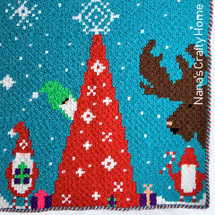 Gnome for Christmas C2C Crochet Pattern