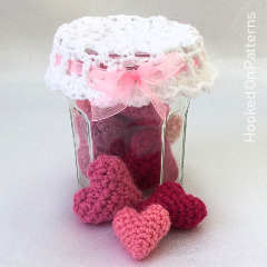 Free Jar of Hearts Crochet Pattern
