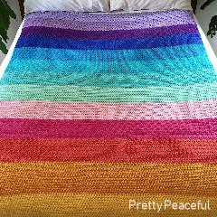 Peaceful Easy Blanket Free Crochet Pattern