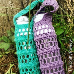 River Rocks Water Bottle Carrier Crochet Pattern