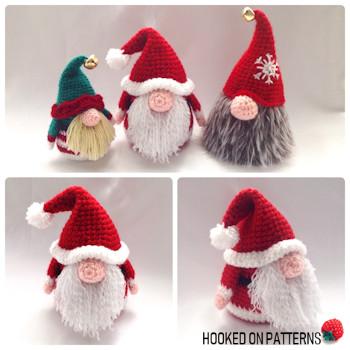 Amigurumi Santa Claus Crochet Pattern And Reindeer Toy Crochet ... | 350x350