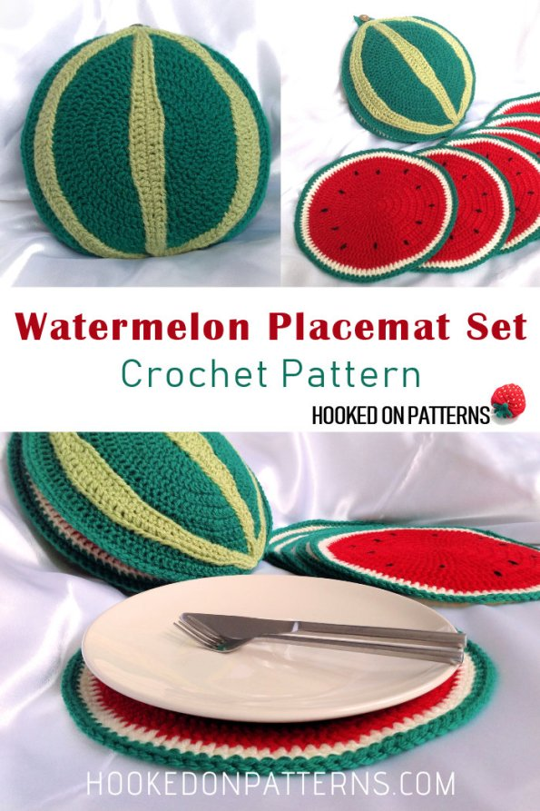 Watermelon Placemat Set Crochet Pattern