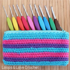 Zipper Hook Pouch Crochet Pattern
