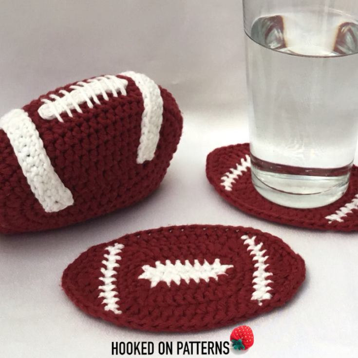 American Football Coaster Set Crochet Pattern