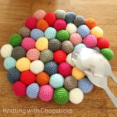 Candy Potholder Free Crochet Pattern