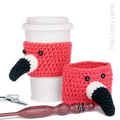 Flamin-To-Go Cup Cozy Free Crochet Pattern