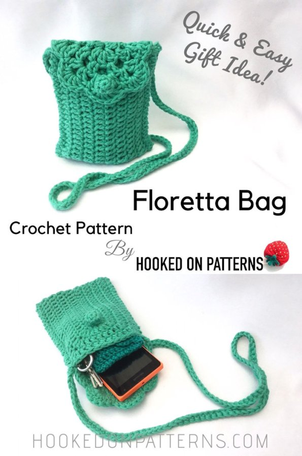 Floretta Bag Crochet Pattern with Purse & Case Options