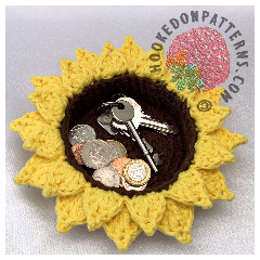 Free Sunflower Basket Crochet Pattern