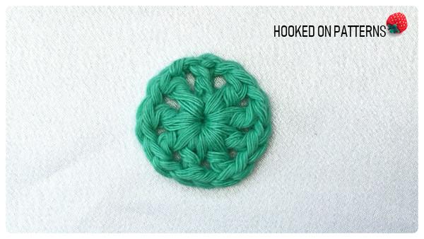 Happy Scrappy Coasters Free Crochet Pattern Round 1