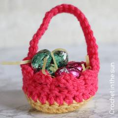 Mini Easter Basket Crochet Pattern