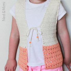Peaches and Cream Girl's Vest Free Crochet Pattern