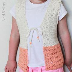 Peaches and Cream Girl's Vest Free Crochet Pattern