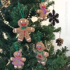 Free Gingerbread Family Crochet Pattern
