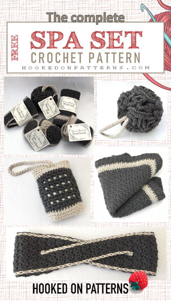 Luxury Spa Bathroom Set Crochet Patterns
