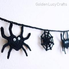Free Spider Garland Crochet Pattern