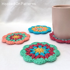 Happy Scrappy Coasters Free Crochet Pattern