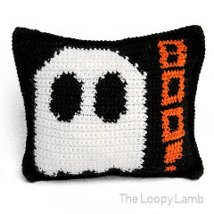 Mad About Boo Crochet Halloween Pillow Free Crochet Pattern