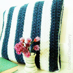 Stars and Stripes Cushion Free Crochet Pattern