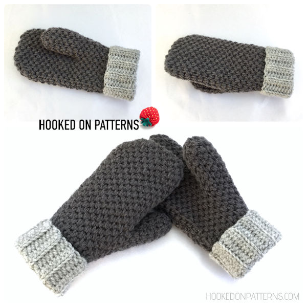 Thick & Cosy Mittens Free Crochet Pattern