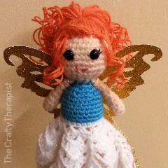 Christmas Fairy Tree Topper Free Crochet Pattern