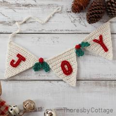 Christmas bunting Free Crochet Pattern