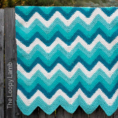 Timeless Teal Chevron Blanket Free Crochet Pattern