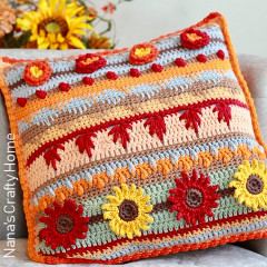Autumn Rhapsody Pillow Free Crochet Pattern