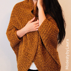 Free Ladies Crochet Patterns: Honey Cocoon Cardigan Crochet Pattern
