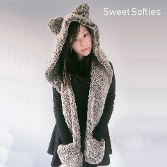Hooded Timber Wolf Scarf Free Crochet Pattern