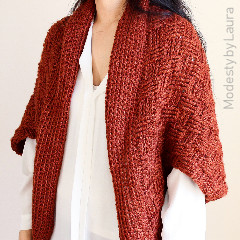 Free Ladies Crochet Patterns: Pumpkin Spice Cocoon Cardigan Crochet Pattern