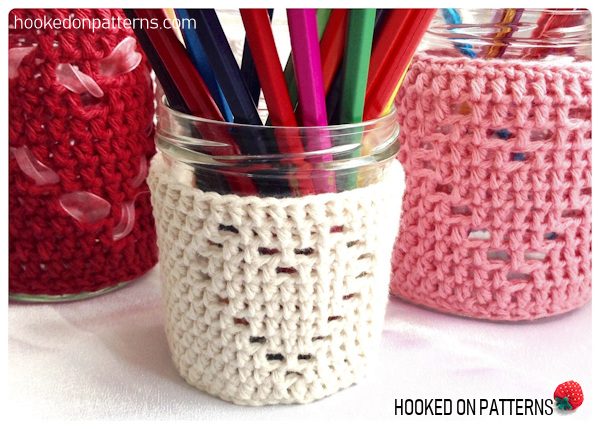 Free Heart Jar Cozy Crochet Pattern - Mason jar covers