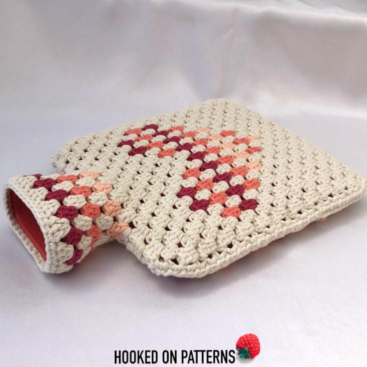 FreeHot Water Bottle Cover Crochet Pattern