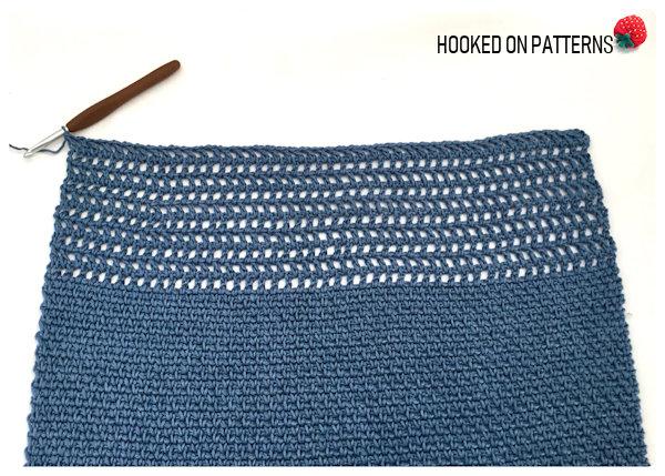 Aviva Mesh Top Tee Crochet Pattern Mesh Top Section