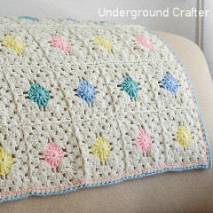 Circle in a Square Baby Blanket Free Crochet Pattern